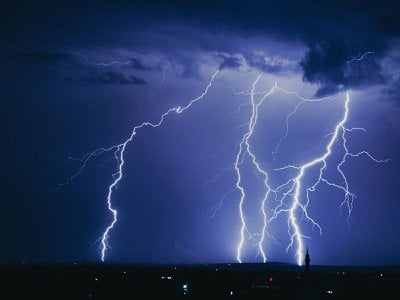 So far, scientists have only documented jagged lightning bolts. Some physicists believe that the discovery of a completely straight lightning bolt could prove the existence of dark matter.