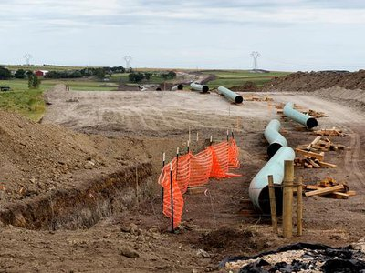 The proposed pipeline is nearly 60 percent complete.