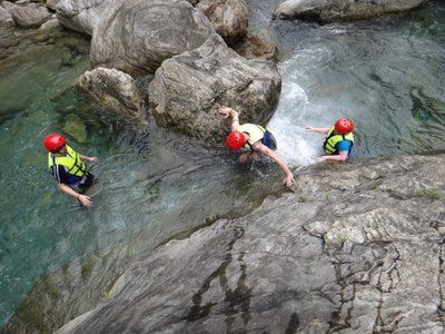 River tracing is a popular way to experience the great outdoors in Taiwan.