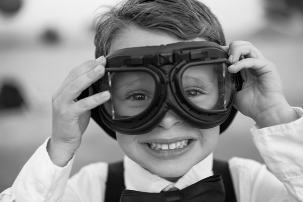Smiling Boy with Flight Goggles thumbnail