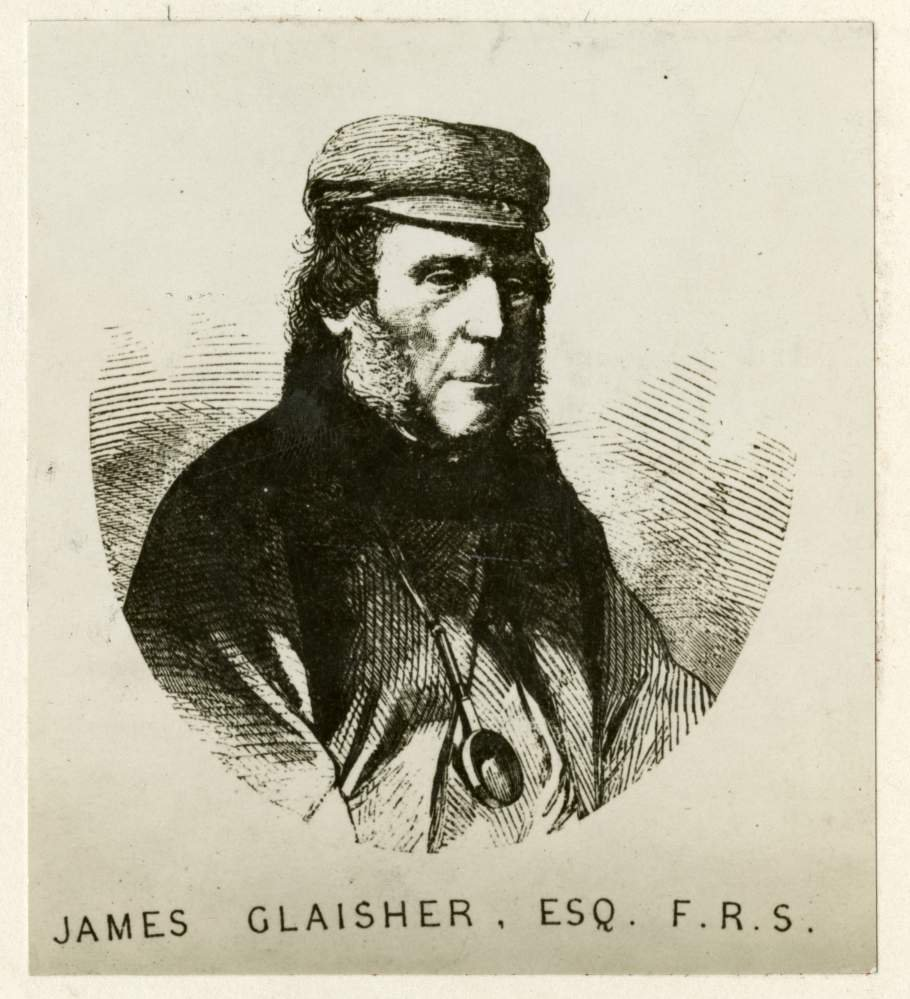 Drawing of James Glaisher