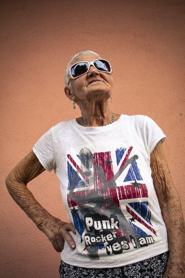 Grandmother punk. thumbnail