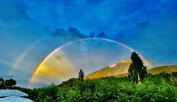 Amazing view of rainbow after raining! thumbnail