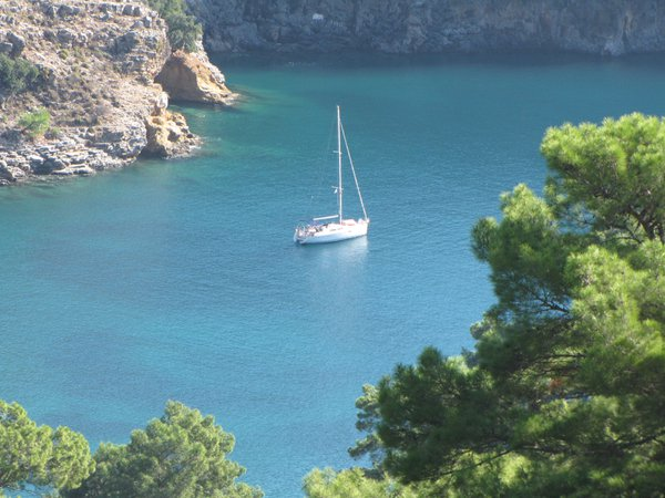 The turquoise waters off the Mediterranean coast of Turkey thumbnail