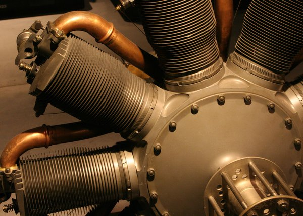 An airplane engine on display thumbnail