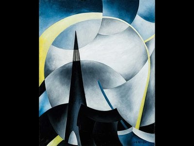Ida O'Keeffe created seven abstract paintings of Cape Cod's Highland Light (pictured: Variation on a Lighthouse Theme V). The first in the acclaimed series has been lost.