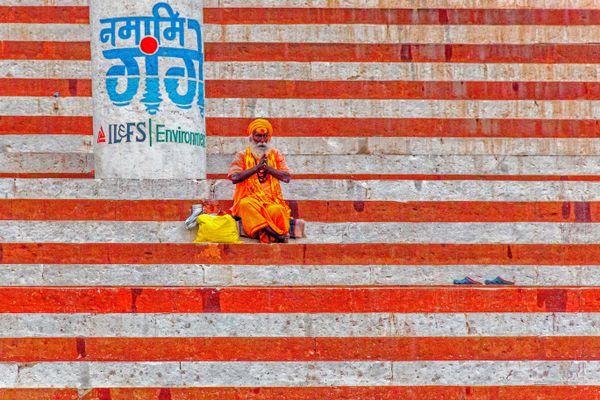 Holy Man Praying – Varanasi thumbnail