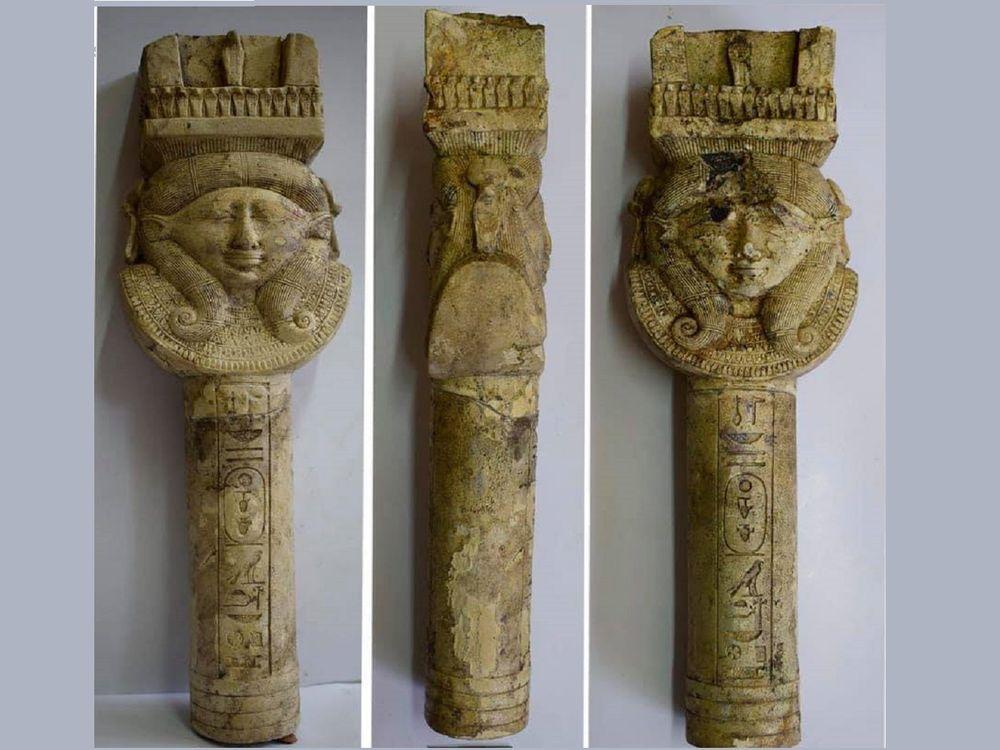 pillar depicting the goddess Hathor