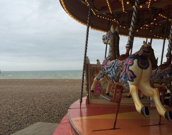 Carousel horse on Brighton beach  thumbnail