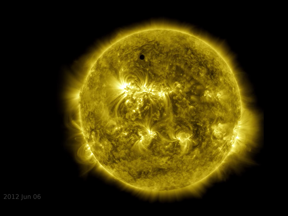 Sun on June 6, 2012 with Venus transiting