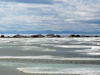 Whalers and their families spent winters on Herschel Island, located north of the Yukon in Canada.