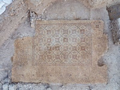 Archaeologists say the mosaic was probably part of a grand Byzantine-era home.