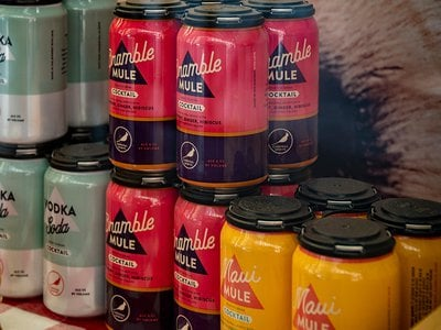 Canned cocktails are a craze again.