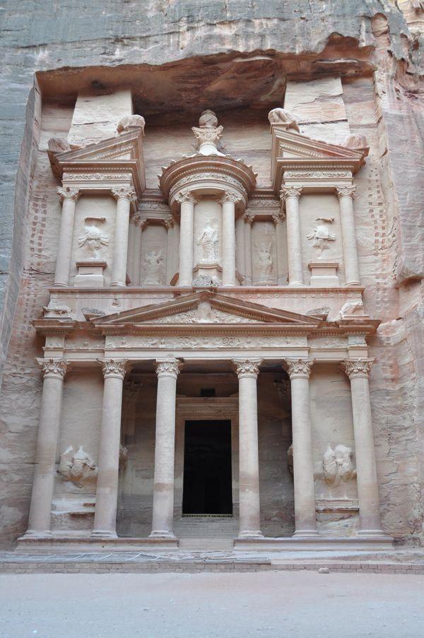 Petra Treasury around sunrise. thumbnail