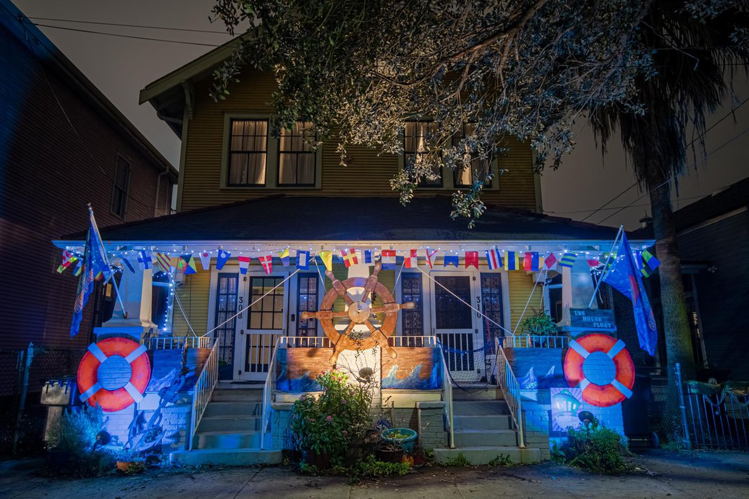 With Mardi Gras Parades Canceled, New Orleans Residents Are Turning Their Houses Into Floats