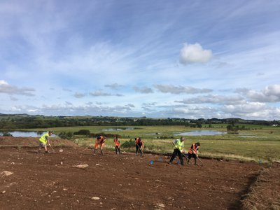 Can You Dig It volunteers took part in excavation work at Little Wood Hill in 2019.
