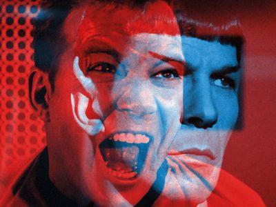 Spock and Kirk Illustration