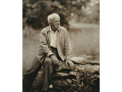 Robert Frost by Clara Sipprell, gelatin silver print, 1955.