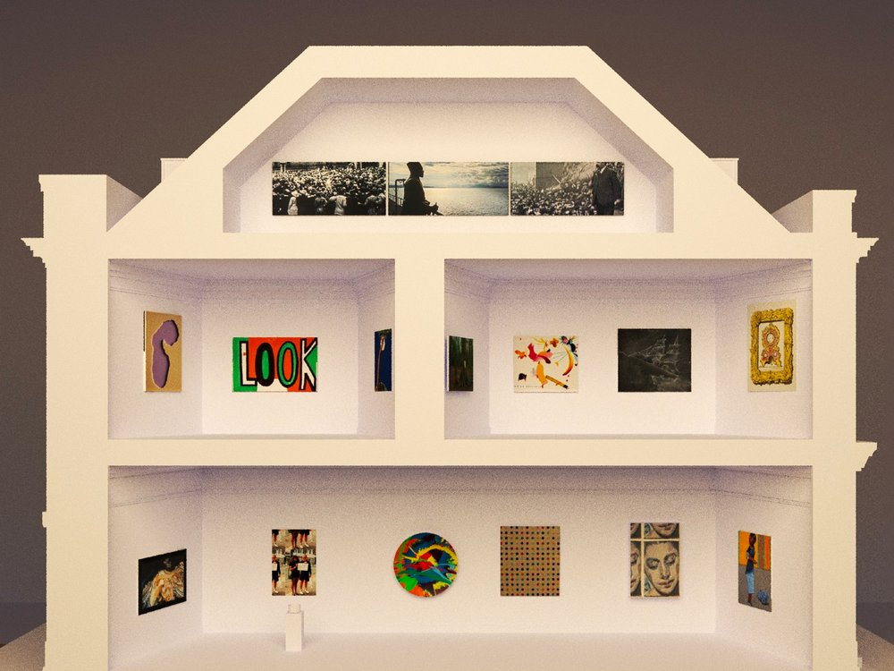 A Dollhouse-Sized Gallery