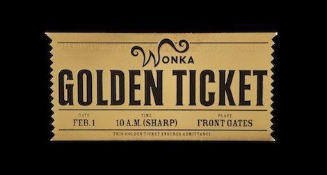 A golden ticket