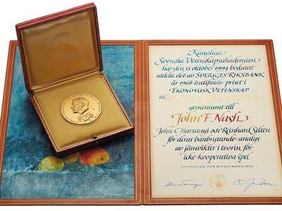 Nash won the Nobel Prize in Economics in 1994