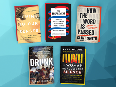 This month's book picks include The Engagement, How the Word Is Passed and Drunk.