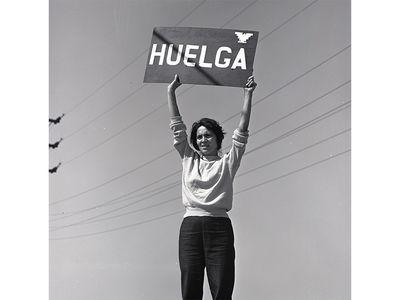 Dolores Huerta, Huelga or Strike, Delano, California, September 24, 1965