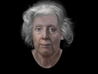 A digital reconstruction of Lilias Adie's face