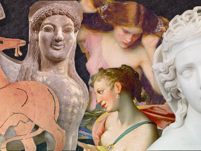 """Explore the true history and myths behind six """"terrible"""" women, from the all-knowing Sphinx to the fire-breathing Chimera and the lesser-known shapeshifter Lamia."""