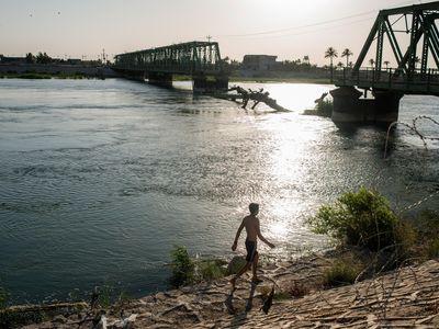 In Fallujah, ISIS blew up this bridge during its 2016 retreat.