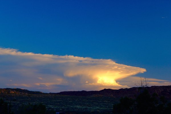 Storm over Moab at sunset thumbnail
