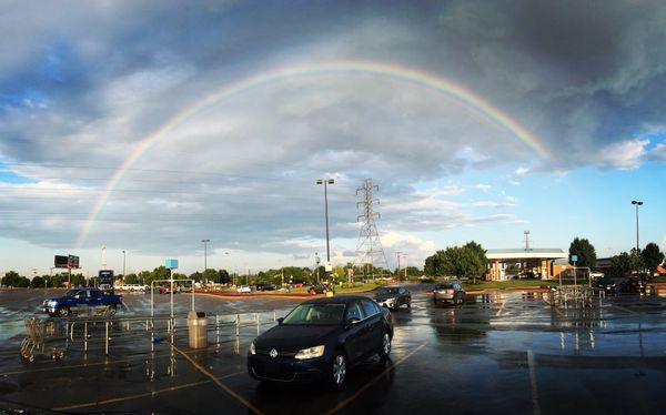 Rainbow over Volkswagen thumbnail