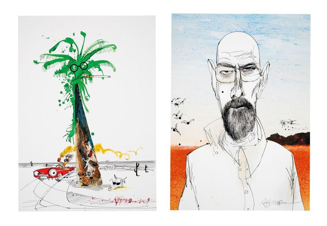 Ralph Steadman's Earlier Work Shows the Artist's Abstract Streak