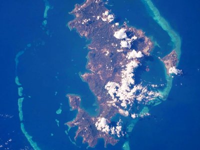 The volcano (not visible in this image) emerged near Mayotte Island (pictured), located between East Africa and Magagascar.