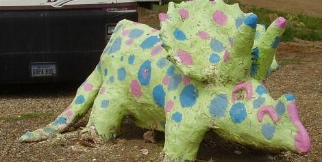 A polka-dot Triceratops in Jordan, Montana