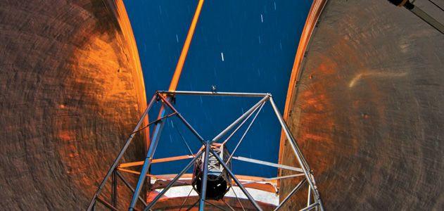 Inside a Keck telescope dome