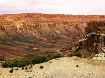 The trailhead to Supai Village, part of the vast Grand Canyon area. Supai is the only the human settlement within the Grand Canyon.
