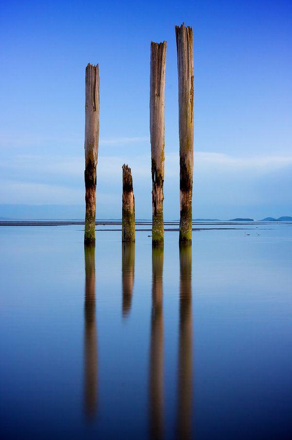 Pillars from an ol' cannery in Bellingham Bay near Bellingham Washington. thumbnail