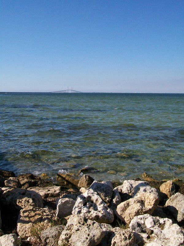 Sunshine Skyway Bridge from across Tampa Bay thumbnail