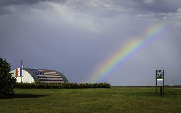 A Rainbow Over a Patriotic Barn thumbnail