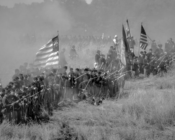 Union Infantry at the Battle of Gettysburg 150th Re-enactment thumbnail