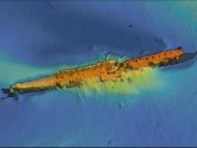 A high-resolution survey scan of U-Boat U-47 shows a remarkably well-preserved wreck.