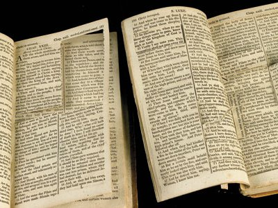 Thomas Jefferson cut verses from six copies of the New Testament to create his own personal version.