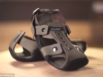 The Shoe That Grows can be adjusted in three places: the front, sides and back.