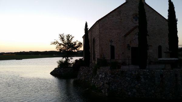 A church in the sunrise thumbnail