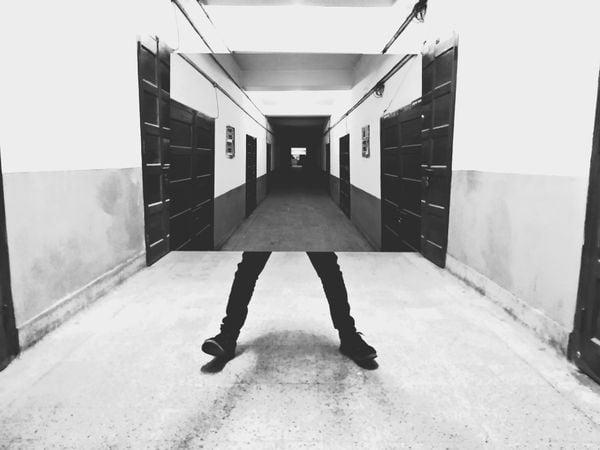 Standing in a corridor thumbnail