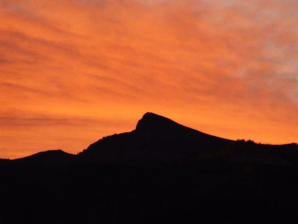 Dramatic Orange Sunset on Crystal Peak thumbnail
