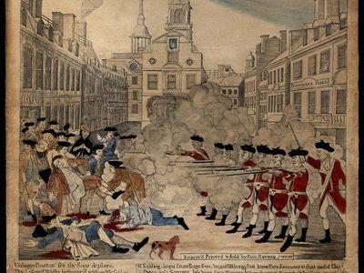 Revere's engraving of the Boston Massacre