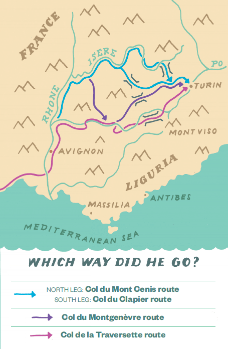 How (and Where) Did Hannibal Cross the Alps?