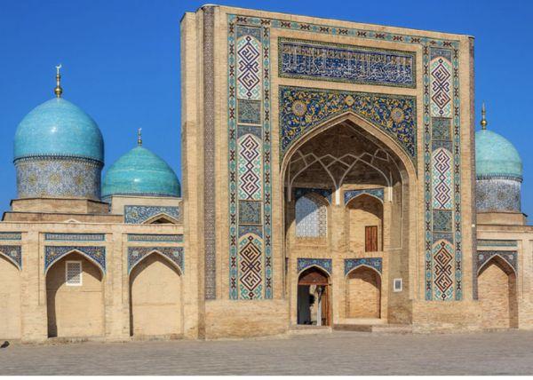 Uzbekiston in Tashkent history city Barak- khan Madrasah thumbnail